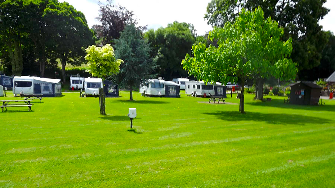 Glen Trothy Electric grass touring caravan pitch picture