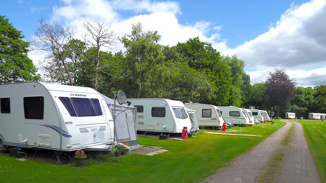 Glen Trothy Caravan Park fully serviced hard0standing touring pitch picture